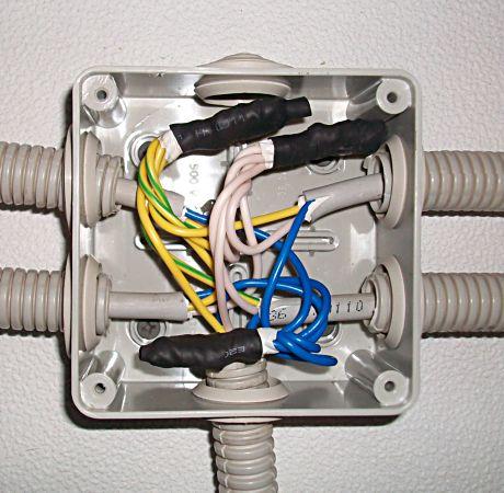 провода в распределительной